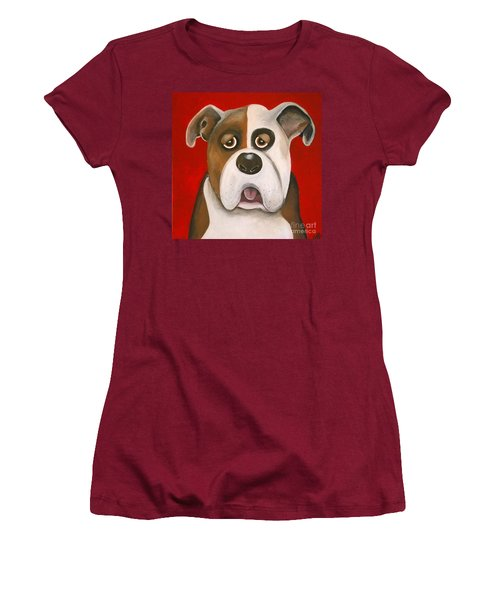Winston The Dog Women's T-Shirt (Athletic Fit)