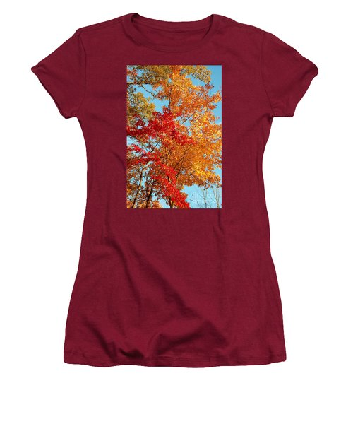 Women's T-Shirt (Junior Cut) featuring the photograph Yellow And Red by Patrick Shupert