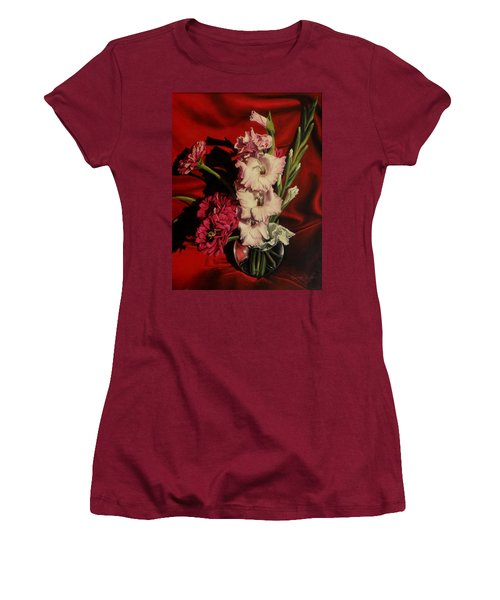 Zinnias And Gladiolas Women's T-Shirt (Athletic Fit)