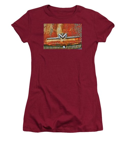 Antique Mercury Auto Logo Women's T-Shirt (Junior Cut) by Dan Stone