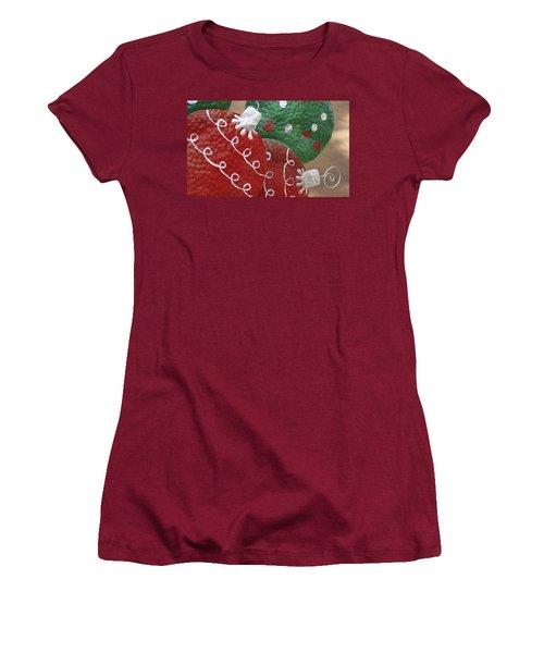 Women's T-Shirt (Junior Cut) featuring the photograph Christmas Ornaments by Patrice Zinck