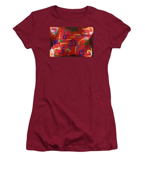 Women's T-Shirt (Junior Cut) featuring the digital art Italian Pillow by Alec Drake