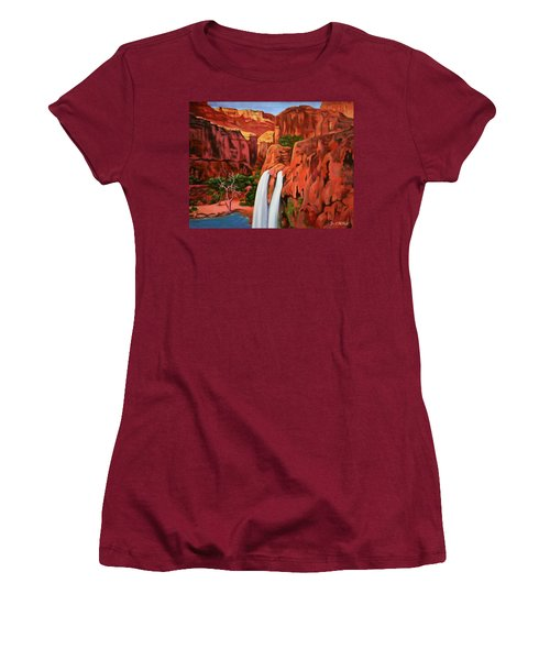 Morning In The Canyon Women's T-Shirt (Athletic Fit)