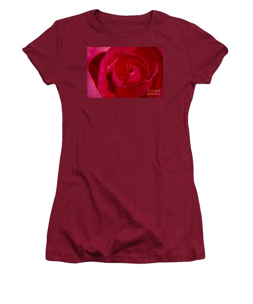 Red Rose Women's T-Shirt (Junior Cut) by Mark Gilman
