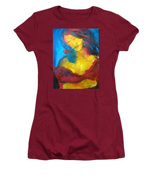 Women's T-Shirt (Junior Cut) featuring the painting Sangria Dreams by Keith Thue