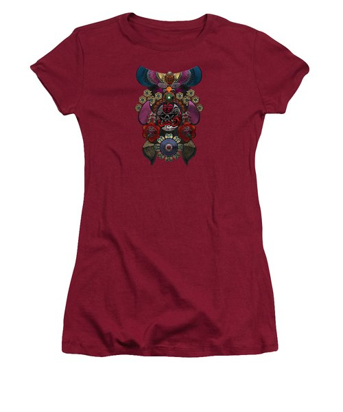 Chinese Masks - Large Masks Series - The Demon Women's T-Shirt (Athletic Fit)