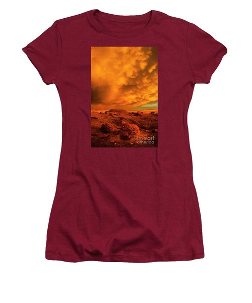 Red Rock Coulee Sunset 2 Women's T-Shirt (Athletic Fit)