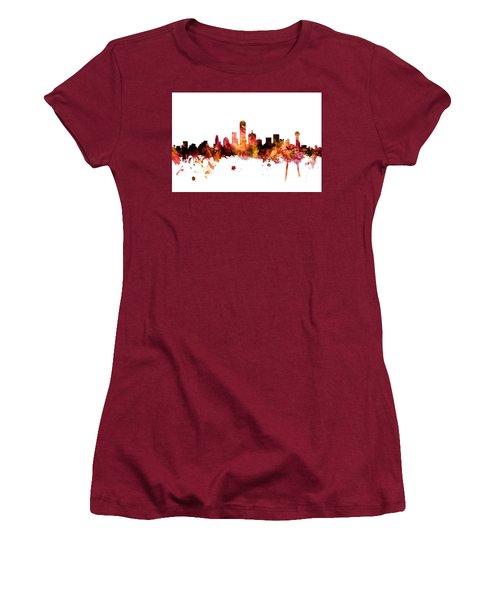 Dallas Texas Skyline Women's T-Shirt (Athletic Fit)
