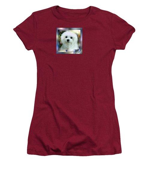 Hermes The Maltese Women's T-Shirt (Junior Cut) by Morag Bates
