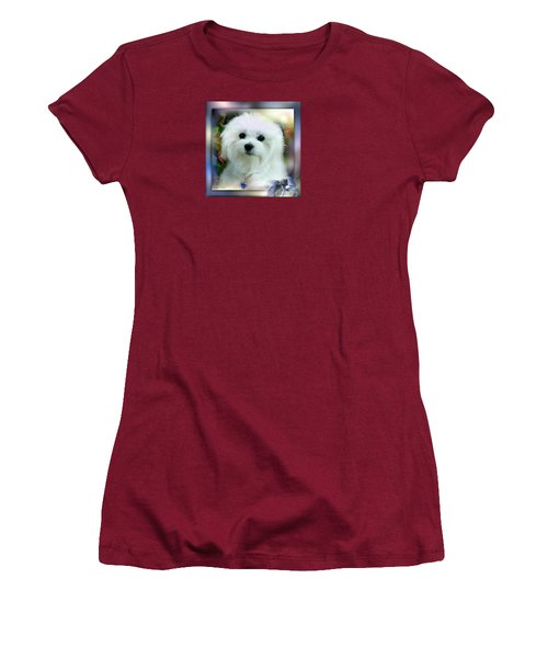 Hermes The Maltese Women's T-Shirt (Athletic Fit)