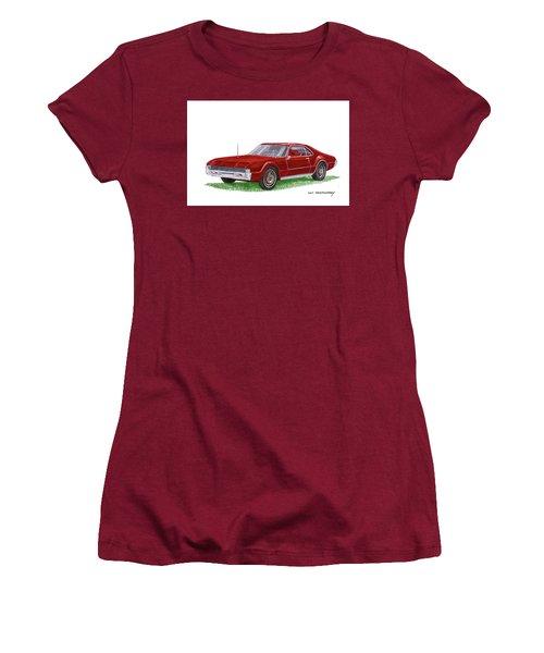 1966 Oldsmobile Toronado Women's T-Shirt (Junior Cut) by Jack Pumphrey