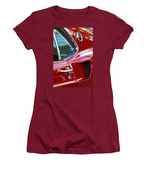 1969 Ford Mustang Mach 1 Side Scoop Women's T-Shirt (Junior Cut) by Jill Reger