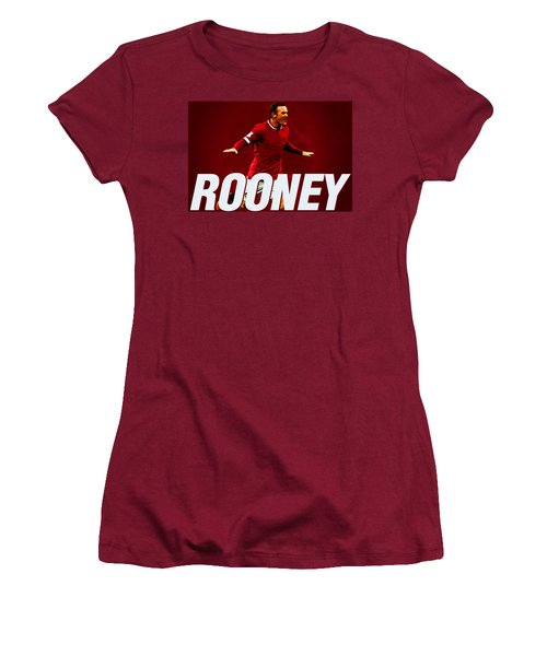 Wayne Rooney Women's T-Shirt (Junior Cut) by Semih Yurdabak