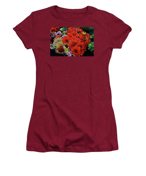 2017 Mid October Monona Farmers' Market Buckets Of Blossoms 1 Women's T-Shirt (Athletic Fit)