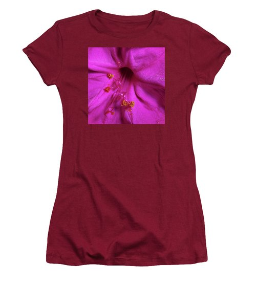 Women's T-Shirt (Junior Cut) featuring the photograph 4 O'clock Bloom by Richard Rizzo