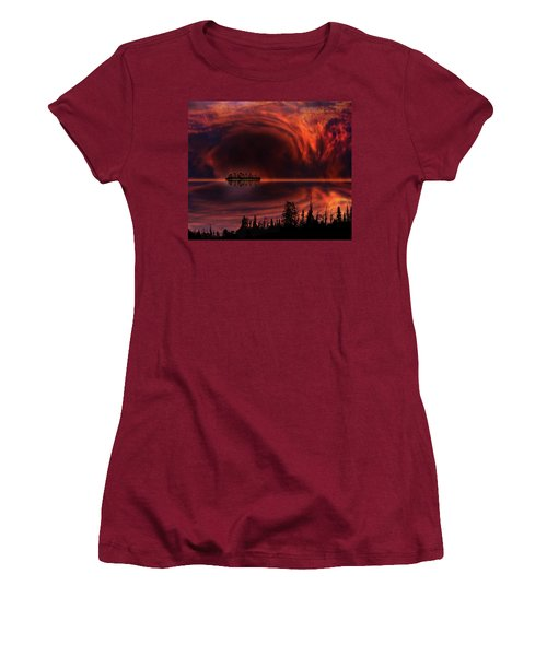 Women's T-Shirt (Junior Cut) featuring the photograph 4385 by Peter Holme III