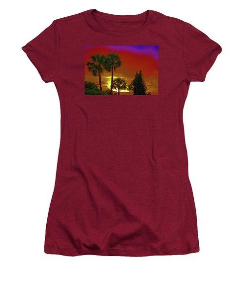 Women's T-Shirt (Junior Cut) featuring the digital art 7- Holiday by Joseph Keane