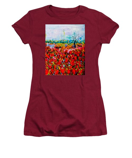 A Field Of Flowers # 2 Women's T-Shirt (Athletic Fit)