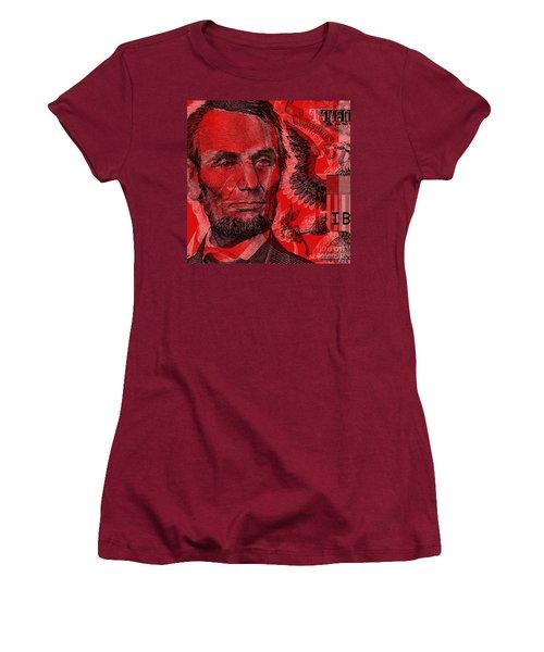 Abraham Lincoln Pop Art Women's T-Shirt (Athletic Fit)
