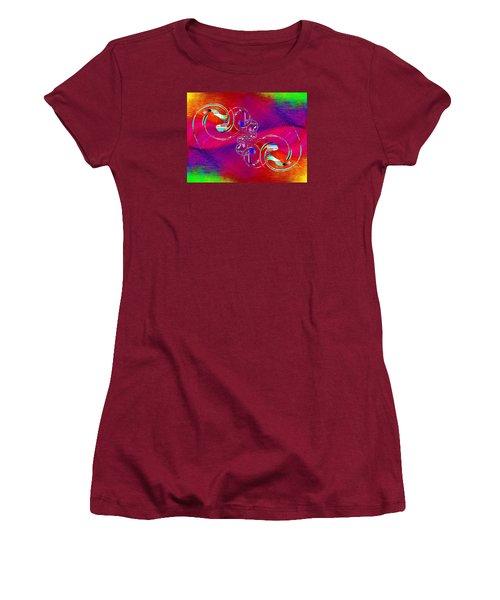 Women's T-Shirt (Junior Cut) featuring the digital art Abstract Cubed 360 by Tim Allen