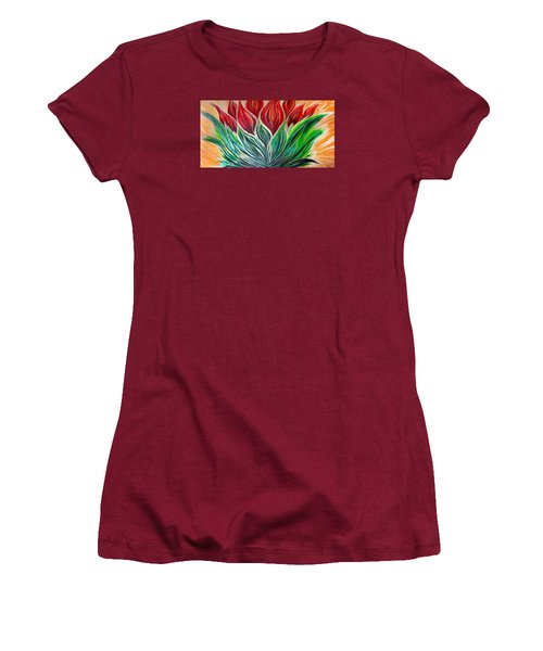Abstract Lotus Women's T-Shirt (Athletic Fit)