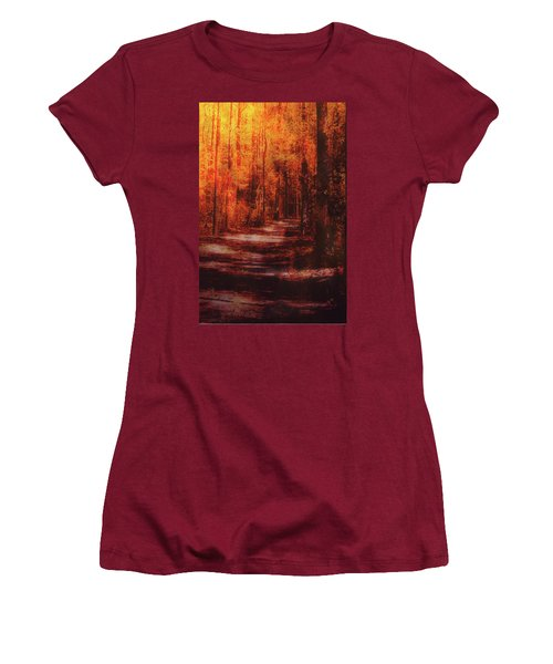 Abstract Path Women's T-Shirt (Athletic Fit)