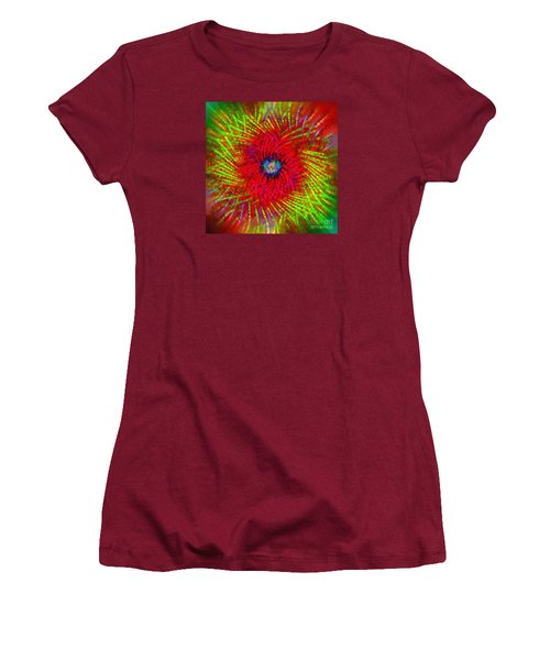 Women's T-Shirt (Junior Cut) featuring the photograph Abstract Swirl 03 by Jack Torcello