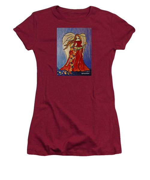 Abundance Angel Women's T-Shirt (Junior Cut) by AmaS Art