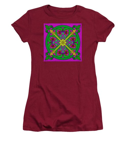 Acorns On Hot Pink Women's T-Shirt (Junior Cut) by Curtis Koontz