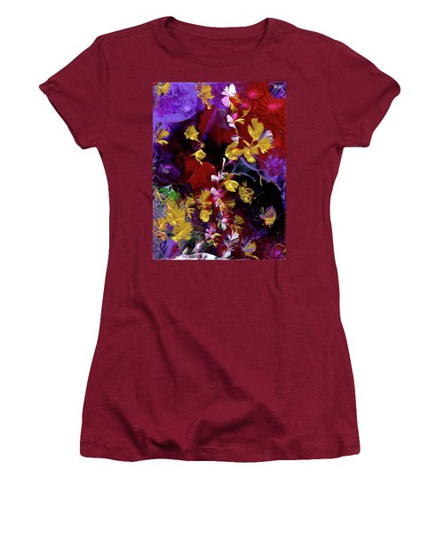 African Violet Awake #3 Women's T-Shirt (Athletic Fit)