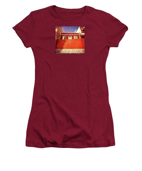 Women's T-Shirt (Athletic Fit) featuring the photograph Alcala Red House No2 by Anne Kotan