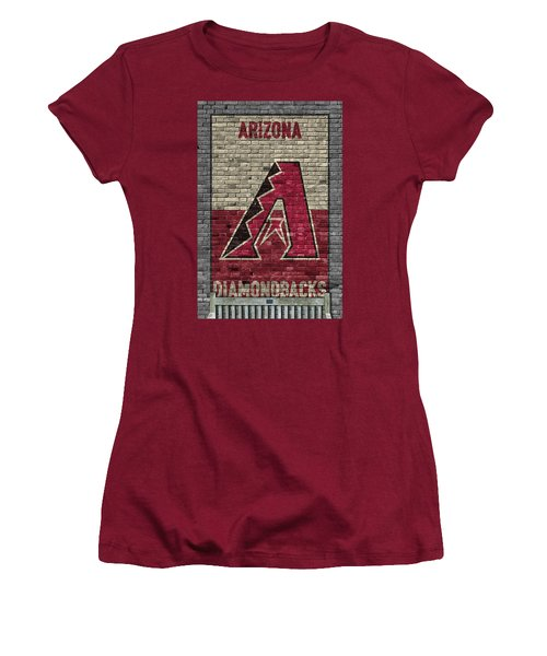 Arizona Diamondbacks Brick Wall Women's T-Shirt (Athletic Fit)