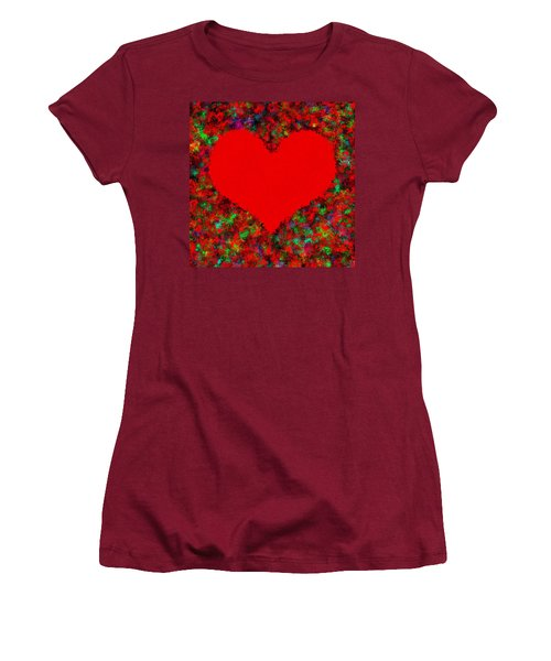 Art Of The Heart Women's T-Shirt (Junior Cut) by Anton Kalinichev