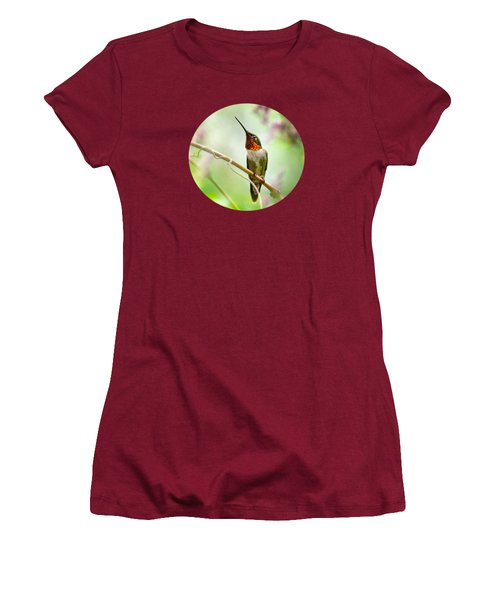 Hummingbird Looking For Love Women's T-Shirt (Athletic Fit)