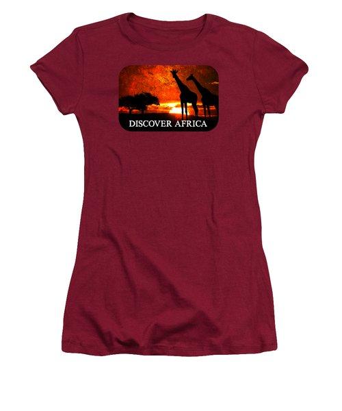 African Safari Women's T-Shirt (Junior Cut) by Richard Farrington
