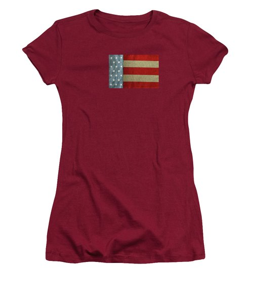 Women's T-Shirt (Junior Cut) featuring the photograph The Flag by Tom Prendergast