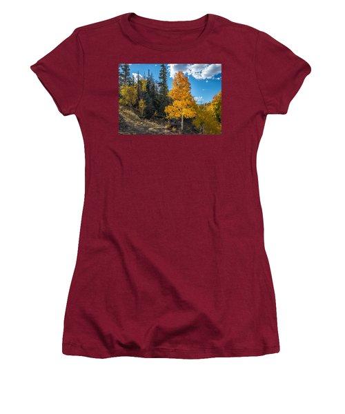 Aspen Tree In Fall Colors San Juan Mountains, Colorado. Women's T-Shirt (Junior Cut) by John Brink