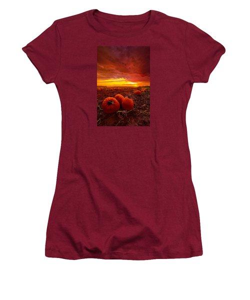 Autumn Falls Women's T-Shirt (Junior Cut) by Phil Koch