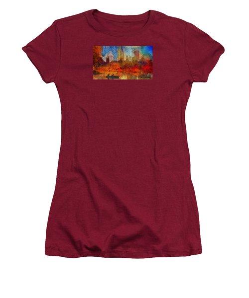 Autumn In New York Women's T-Shirt (Junior Cut) by Ted Azriel