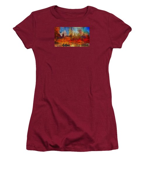 Autumn In New York Women's T-Shirt (Athletic Fit)