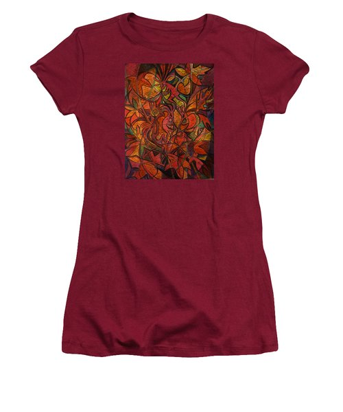 Autumn Kokopelli Women's T-Shirt (Athletic Fit)