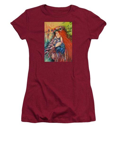 Autumn Women's T-Shirt (Junior Cut) by Rita Fetisov