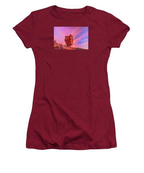 Balanced Precariously  Women's T-Shirt (Junior Cut) by Bijan Pirnia