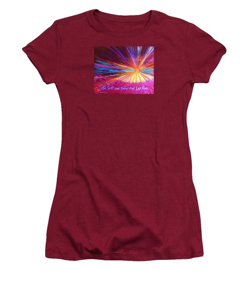 Be Still Women's T-Shirt (Athletic Fit)
