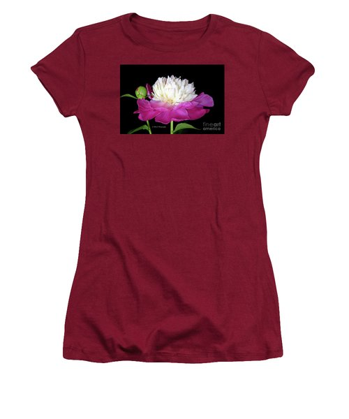 Beautiful Fancy Peony Women's T-Shirt (Athletic Fit)