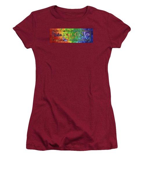 Believe In Magic Women's T-Shirt (Junior Cut) by Agata Lindquist