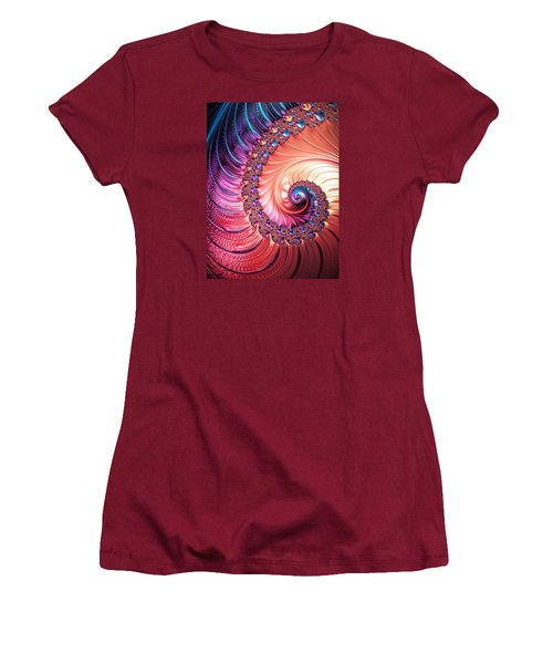 Beneath The Sea Spiral Women's T-Shirt (Athletic Fit)