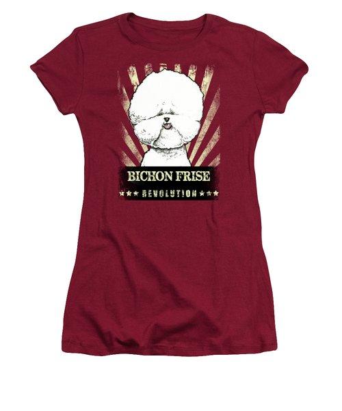Bichon Frise Revolution Women's T-Shirt (Athletic Fit)