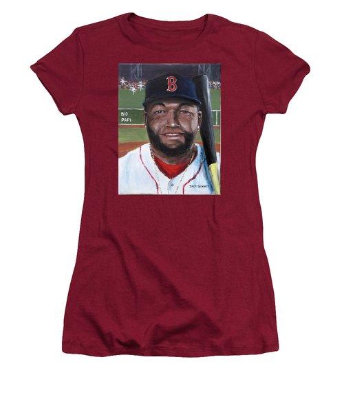 Big Papi Women's T-Shirt (Junior Cut) by Jack Skinner