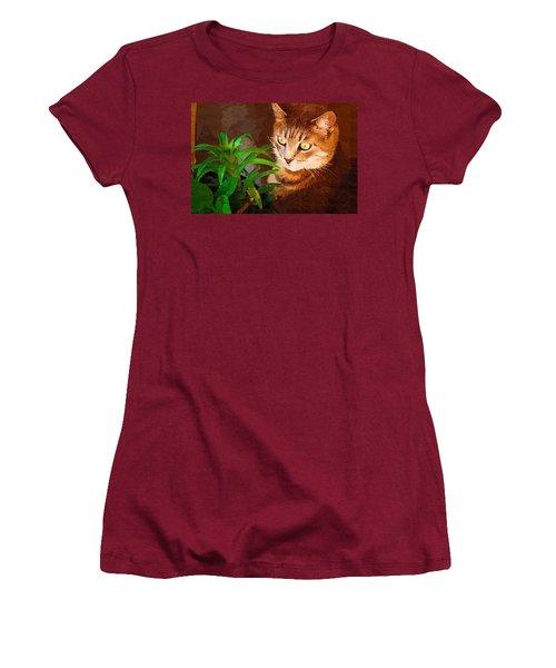 Women's T-Shirt (Junior Cut) featuring the photograph Bink by Donna Bentley